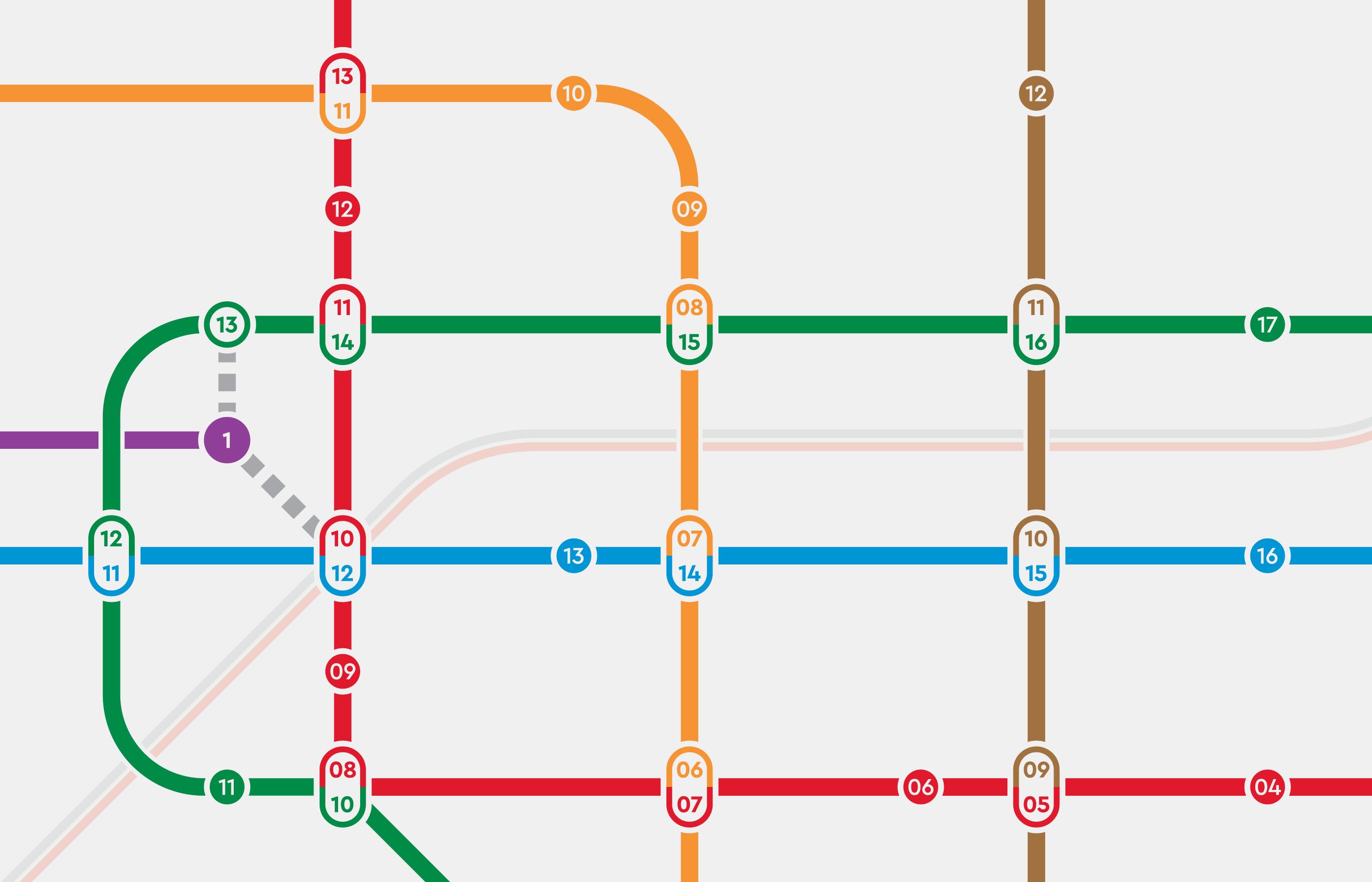 北捷路線形象圖